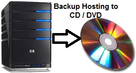 backup account hosting to cd dvd
