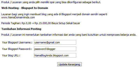 informasi account blogspot
