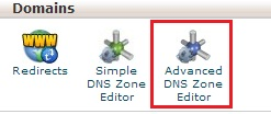 cpanel advanced dns zones editor.