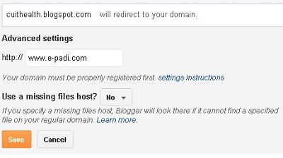 Cara setting blogspot ke domain .com