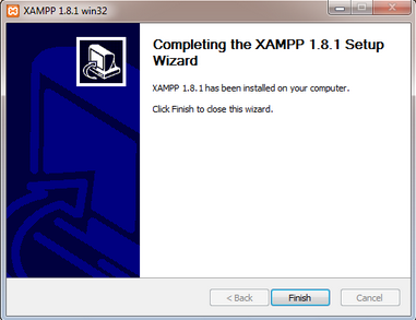 completing xampp install