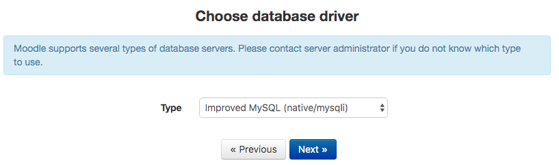 install moodle config mysql database